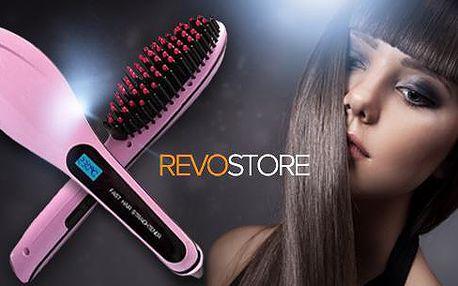 Ionizační kartáč na vlasy s LCD displejem pro žehlení všech typů vlasů. Hydratuje vlasy a zabraňuje vzniku statické elektřiny.