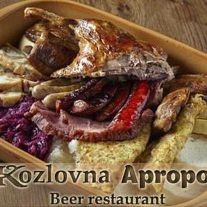 50% sleva na veškerá jídla v restauraci Kozlovna Apropos