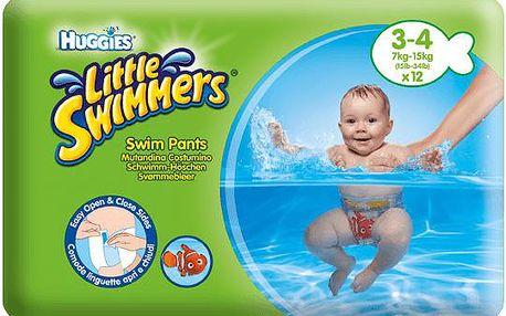HUGGIES Little Swimmers vel.3-4 (7-15kg) 12ks - jednorázové pleny do vody