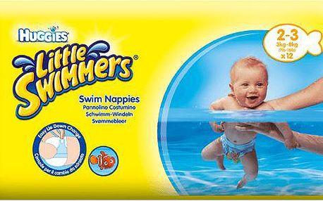 HUGGIES Little Swimmers vel.2-3 (3-8kg) 12ks - jednorázové pleny do vody