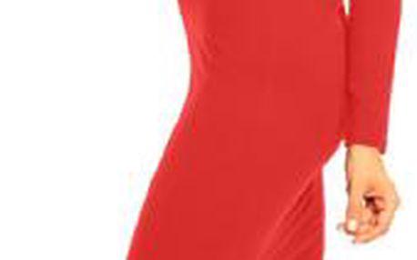 Akce - Stylové dámské šaty Klaudia s dlouhým rukávem L/XL, červená