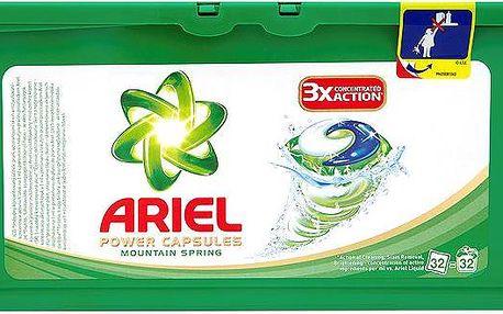 Ariel Power capsules mountain spring gelové kapsle na praní prádla 32 praní 32 x 28,8 g