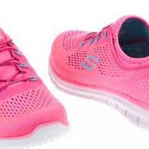 Neonově růžové dámské sportovní tenisky Skechers Harmony3