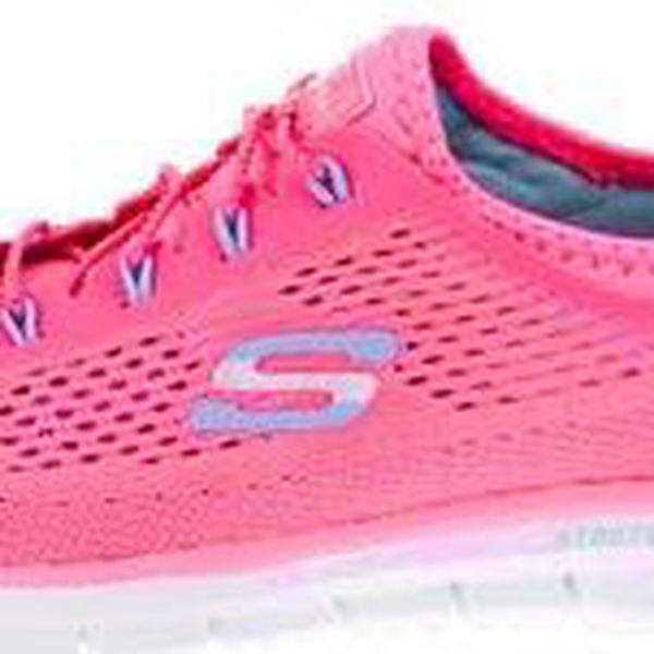 Neonově růžové dámské sportovní tenisky Skechers Harmony
