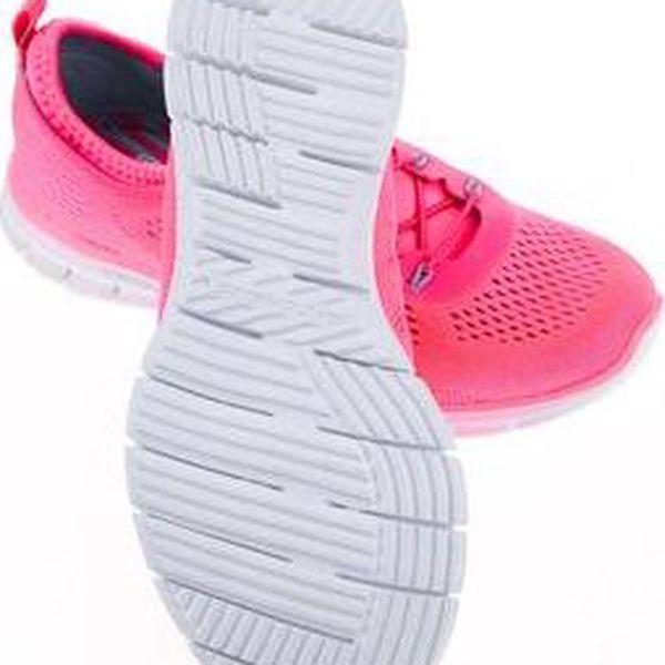 Neonově růžové dámské sportovní tenisky Skechers Harmony4