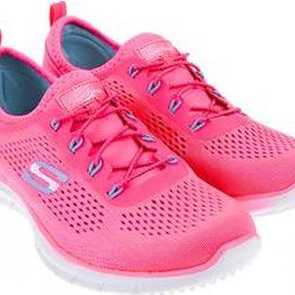 Neonově růžové dámské sportovní tenisky Skechers Harmony5