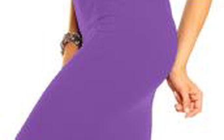 Akce - Dámské šaty Klaudie s manžetovými rukávy S/M, fialová
