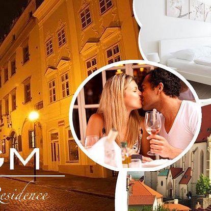 Pobyt pro dva v hotelu Rezidence TGM, ubytování, snídaně, welcome drink, lahev vína a slevy.