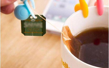 Držáček na čajový sáček ve tvaru šneka - modrá