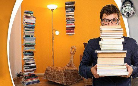 Stojací neviditelná knihovna na vaše knihy
