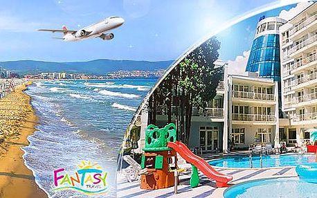 Bulharsko, LETECKY! Slunečné pobřeží na 8 dní pro 1 osobu se snídaněmi či polopenzí, hotel s bazénem a wellness!