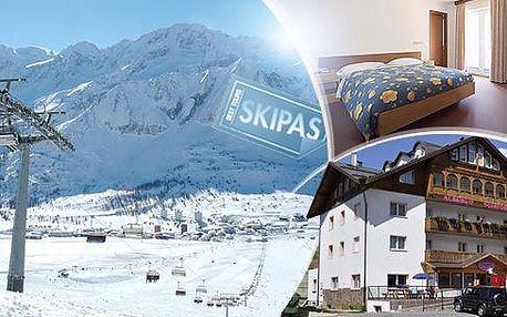 Itálie, Passo Tonale na 3 až 5 dní pro 1 osobu s polopenzí a skipasem! Hotel*** 300 m od sjezdovek, únor-duben!