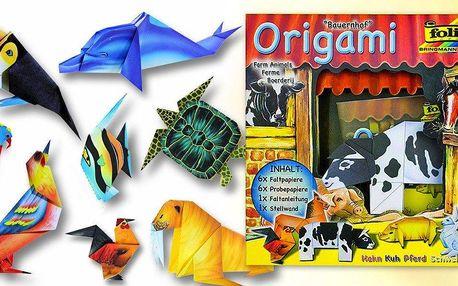 Sada na výrobu origami zvířátek