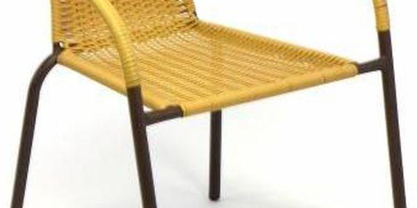 Garthen 35215 Zahradní balkonový set 2 židle + skleněný stůl2
