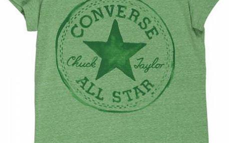 Dámské tričko Converse AWT CORE + CP sig. crew zelená xl