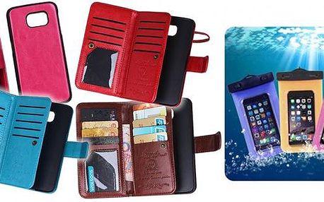 Pouzdra na mobily. Obal na Samsung S6 2v1 a voděodolné pouzdro. Obal je skvělá pomůcka pro ochranu mobilu přes rozbitím, voděodolné pouzdro se hodí vodních cestách chcete ochránit před vodou.