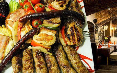 Bohatý srbský mix grill pro dva