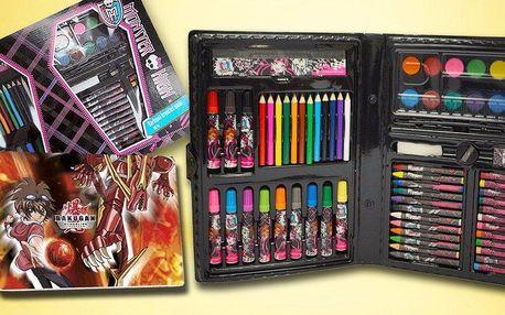 Dětské kufříky plné výtvarných potřeb