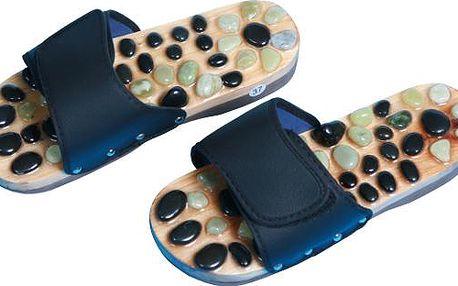 SJH 314B Pantofle akupresurní s přírodní kameny velikost 43-44