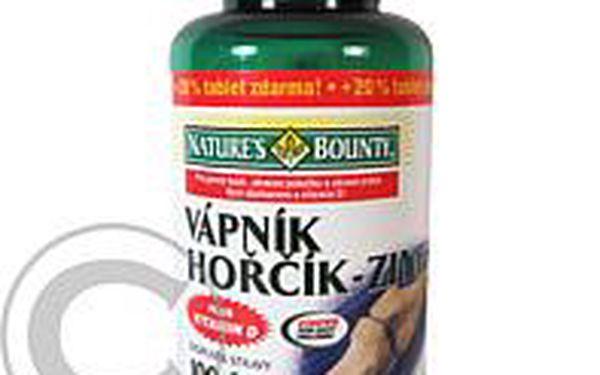 NATURE'S Bounty Vápník-hořčík-zinek+vitamin D tbl.100+20