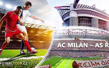Fotbalový zájezd busem na AC Milan vs AS Řím 14.-16.5.! Vstupenka, delegát v Miláně, společné foto, odjezd z Brna!