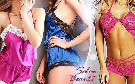 Krajkové erotické prádlo. Luxusní set, košilka či rozverné šatičky pro žhavé chvíle ve dvou. Poštovné zdarma.