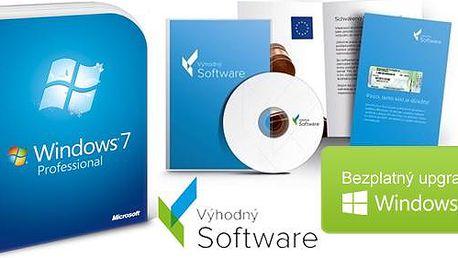 Windows 7 Professional s bezplatným upgradem na desítky vč. poštovného! 32-bit nebo 64-bit DVD + certifikát pravosti!