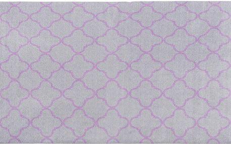 Vysoce odolný kuchyňský koberec Trellis Silver, 80x130 cm - doprava zdarma!