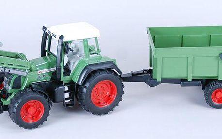 Bruder 1169 Traktor Fendt Favorit 926 s čelním nakladačem a přívěsem