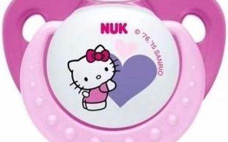 NUK Dudlík Trendline Hello Kitty,SI,V1 (0-6m.), Růžová