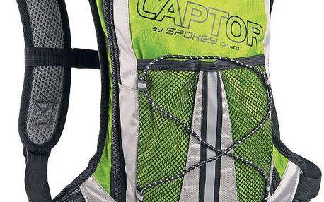Cyklistický a běžecký batoh SPOKEY Captor zelený 2l