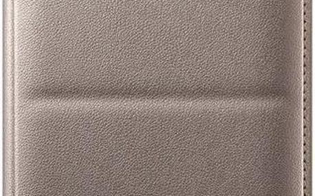 Samsung EF-WN910B flipové pouzdro s kapsou pro Samsung N910 Galaxy Note 4 zlaté