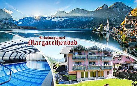 Rakouské Alpy, luxusní wellness pobyt na 4 až 8 dní pro dva s polopenzí, saunou a bazénem, platí do října!