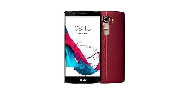LG H815 G4 Red Leather Case