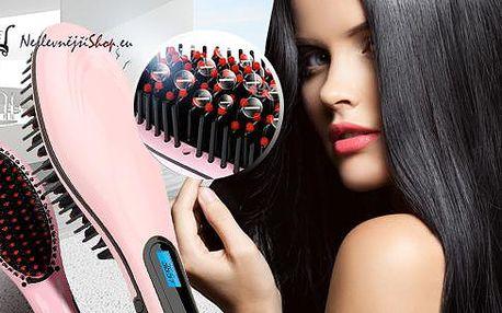 Žehlička na vlasy - kartáč H Straighter! Přístroj pro narovnání vlasů! Mnohem praktičtější než běžná žehlička na vlasy.