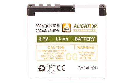 Aligátor baterie 700mAh Li-Ion pro D900 (EU blister)