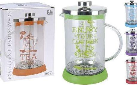 Kaiserhoff KO 170412730 Konvička na čaj a kávu sklo French Press 800 ml
