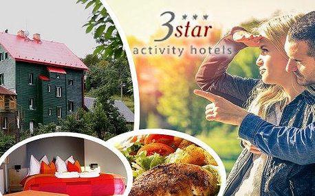 Aktivně-relaxační nebo romantický balíček v 3* hotelu Star pro dva v Krušných horách!! Bohatá polopenze, relaxace v sauně a whirlpoolu, lukostřelba, masáž a mnoho dalšího!! Vyberte si variantu vhodnou právě pro vás a užijte si krušnohorskou pohodu!!