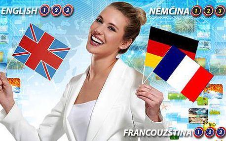 Půlroční nebo roční online kurz anglického, německého a francouzského jazyka
