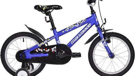 """Dětské kolo MAXBIKE 16"""" - modré - dopravné zdarma + DÁREK ZDARMA Cyklo láhev MAXBIKE 0,6 l se závitem"""