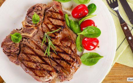 3chodové menu s hovězím steakem pro dva