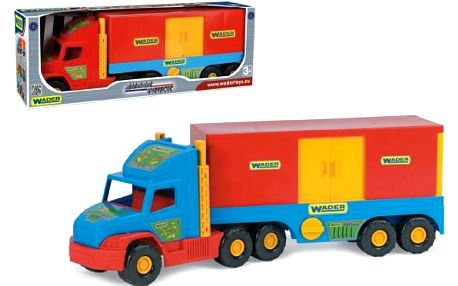 Auto Super Truck kontejner plast 78cm v krabici Wader