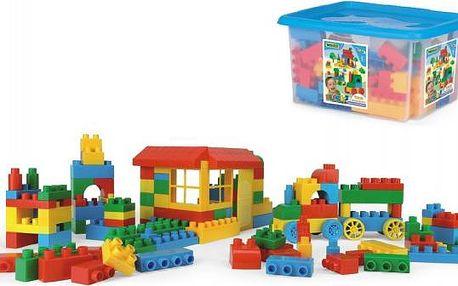 Kostky stavebnice Block plast 132ks Wader v plastovém boxu