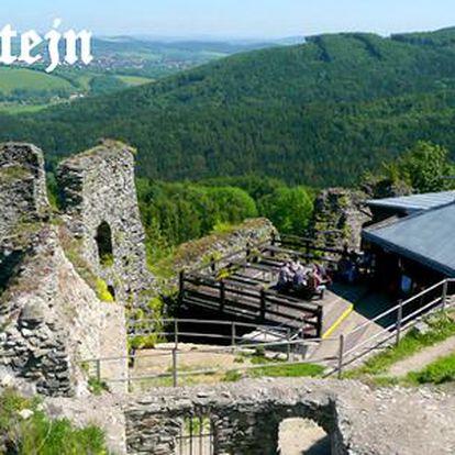 4 dny s polopenzí ve zřícenině hradu Tolštejn v Českém Švýcarsku