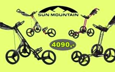 Vyberte si ze 2 typů a několika barevných kombinací oblíbených golfových vozíků Sun Mountain V1 Sport (tříkolový) a Sun Mountain MC3 (čtyřkolový) za velmi výjimečnou cenu 4090 Kč