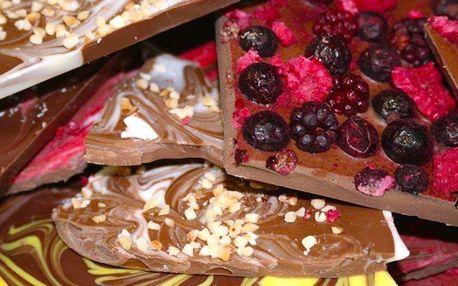Zdobení a odlévání belgické čokolády v Rodas