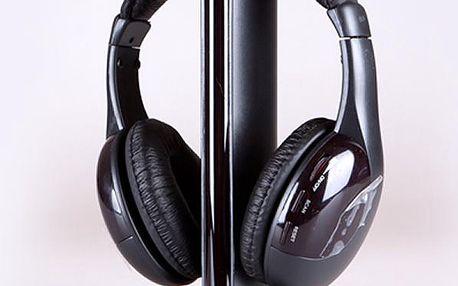 Multifunkční bezdrátová Hi-Fi sluchátka se zvýrazněnými basy 5v1