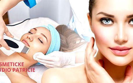 70min. kosmetické ošetření: enzymatický peeling, ultrazvuková špachtle, masáž obličeje a další!