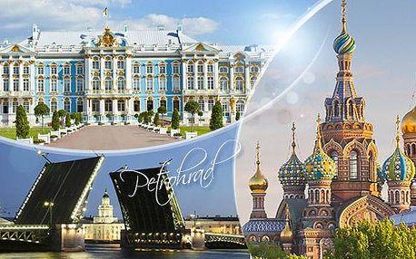 Rusko, Petrohrad! 6denní zájezd pro 1 os. + doprava, služby delegáta a ubytování na 3 noci + 3x snídaně.