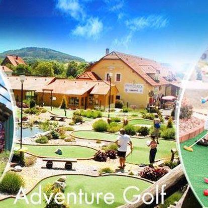 Adventure Golf Počepice! Celodenní vstup pro 1 až 2 osoby či pro rodinu! Super minigolf 55 km od Prahy!